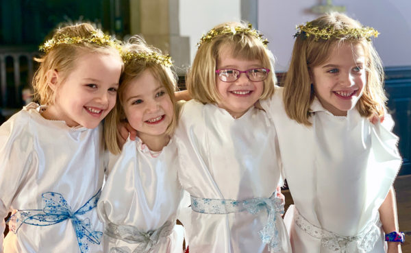 Girls at the Christmas Pageant