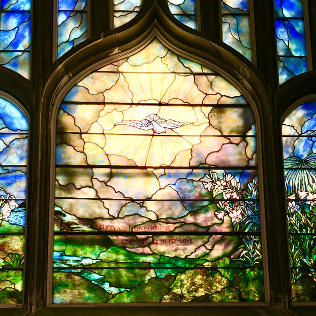 Tiffany Window at the Chapel